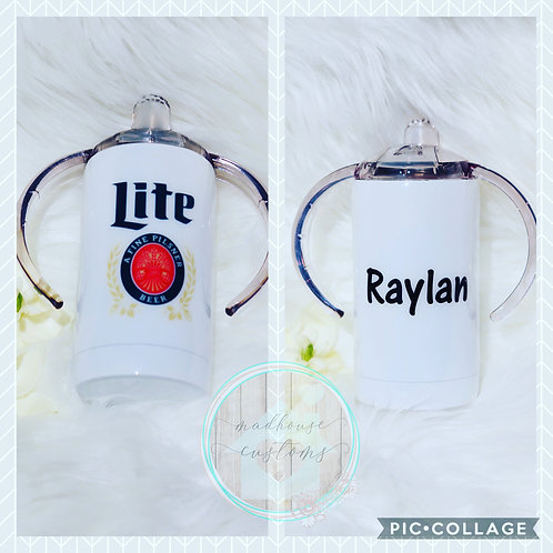 Custom Personalized Miller Lite Sippy Cup