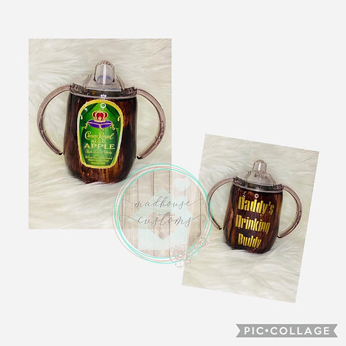 Custom Personalized Crown Royal Apple Sippy Cup