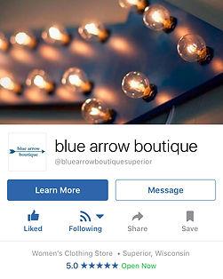 blue arrow boutique facebook