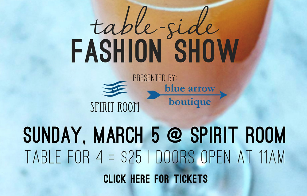 table-side fashion show