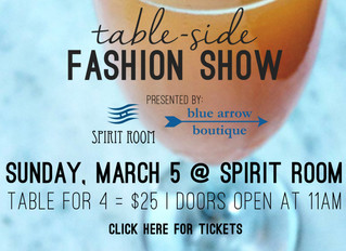 A Table-Side Fashion Show (this time with mimosas)