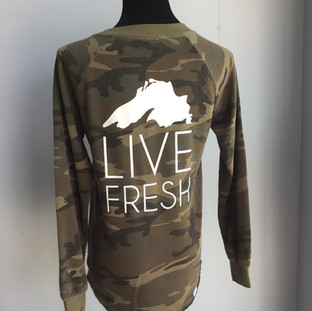 Live Fresh camo sweatshirt ($52)