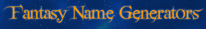 Fantasy Name Generators