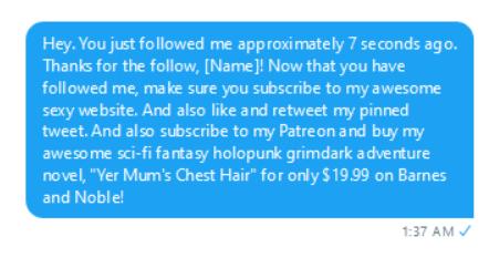 Twitter marketing DM