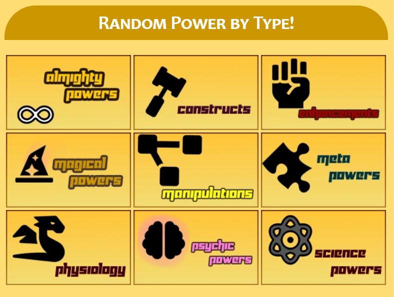 Superpower Wiki random power generator