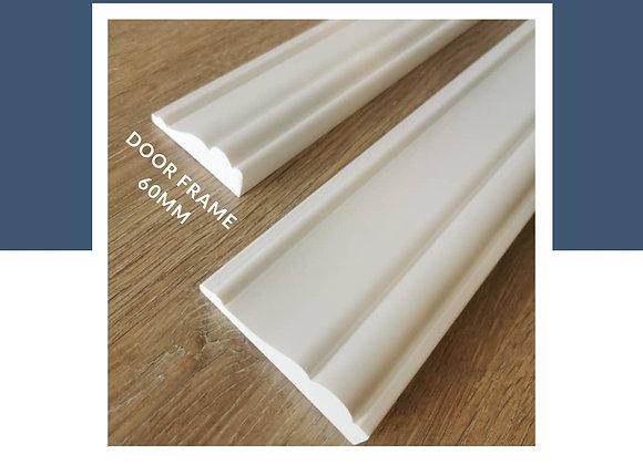 Wainscoting DIY 100% Waterproof - Door Frame 60mm/85mm (8ft Long) - Solid White