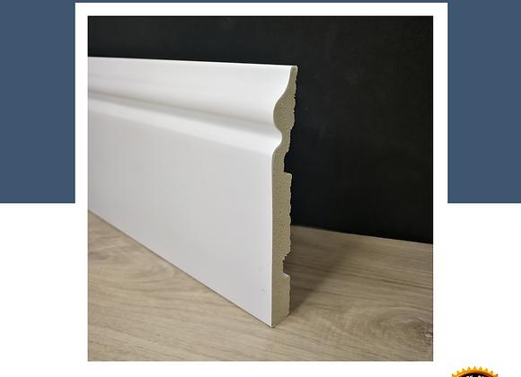 Wainscoting DIY 100% Waterproof - Skirting 100mm (8ft Long) - Solid White