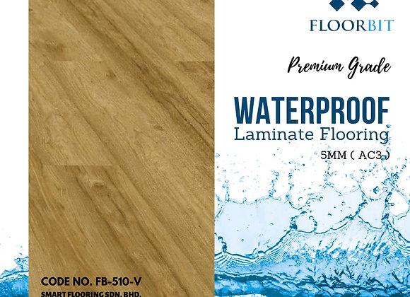FLOORBIT Waterproof Wooden Laminate Flooring 5mm Premium Grade (FB-510-V)