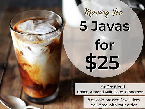 Morning Joe (Five 8 oz Almond Milk Coffee)
