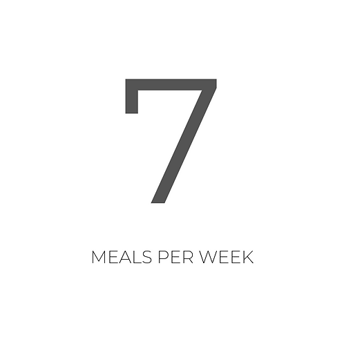 7 MEALS - LUNCH OR DINNER