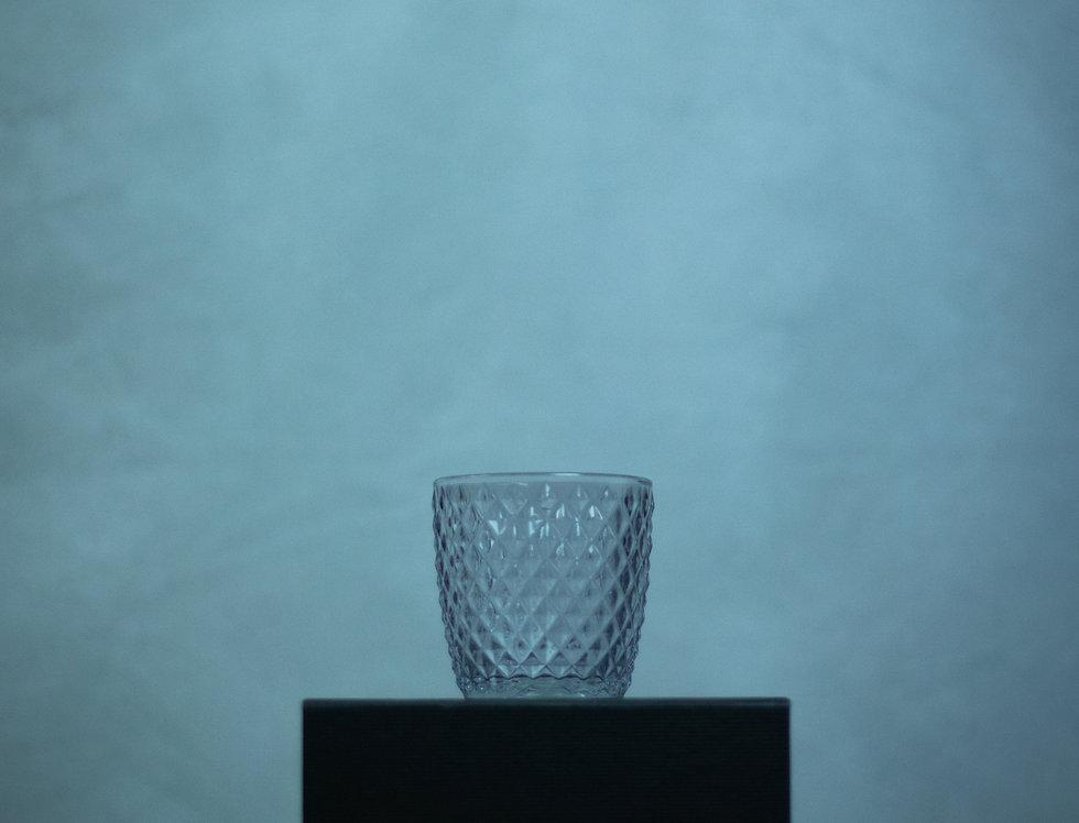Pale Mauve Diamond Textured Glass Tea light