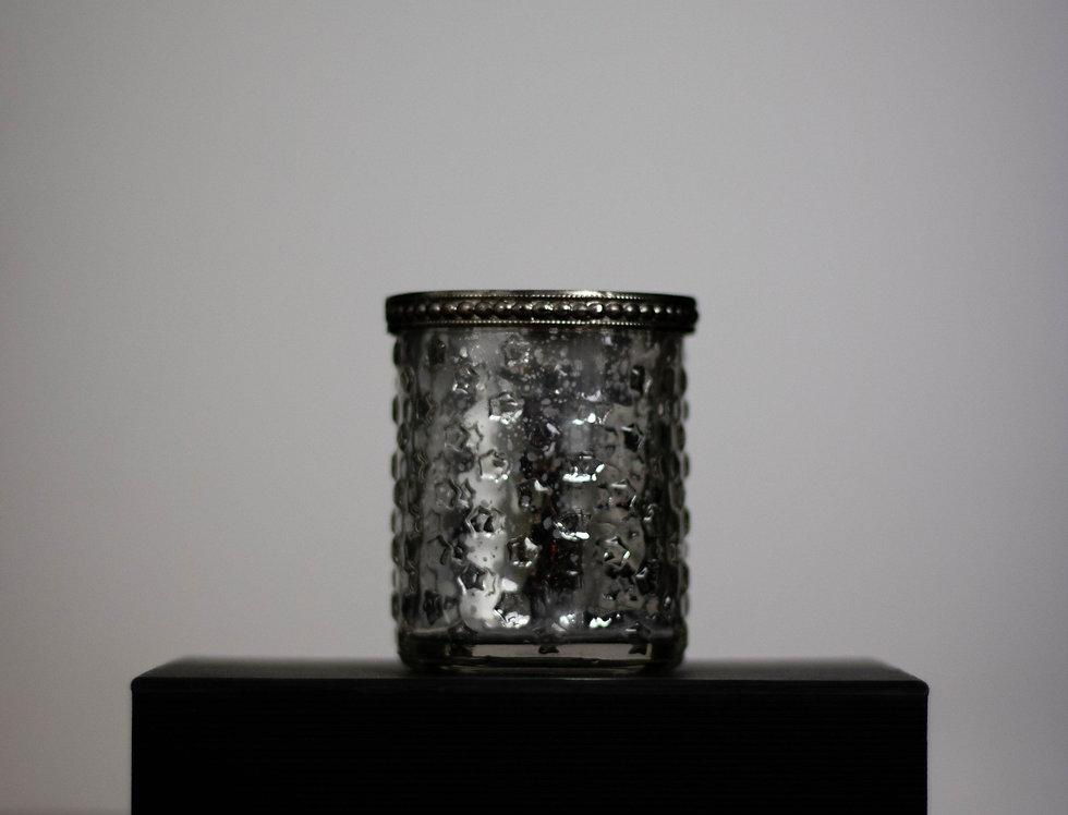 Mottled candle holder