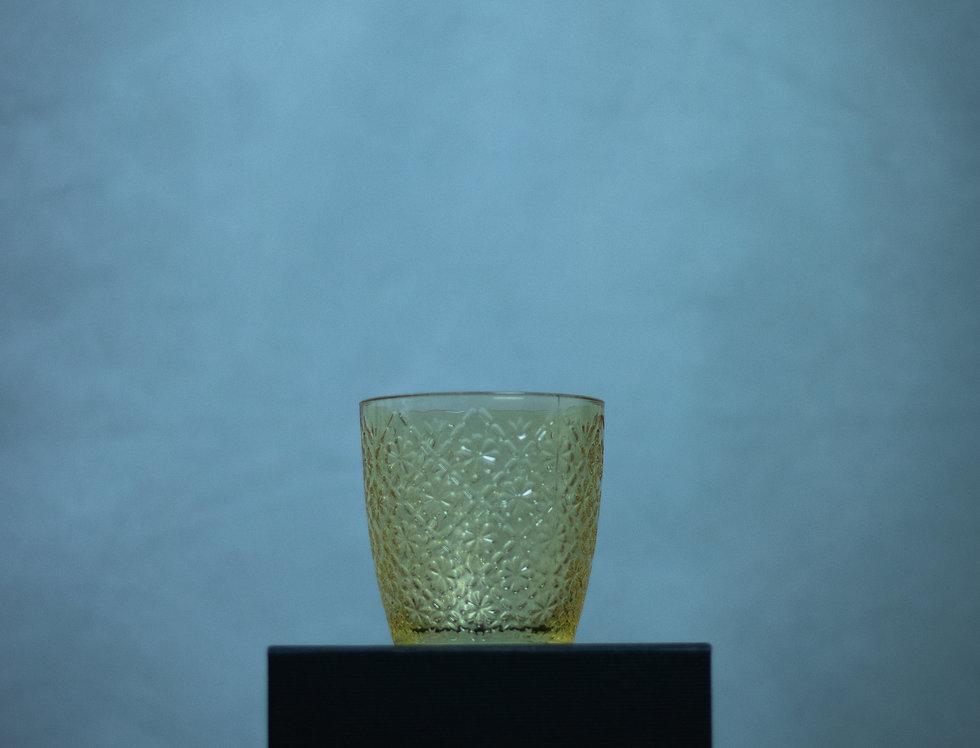 Large Yellow Glass Tealight Holder