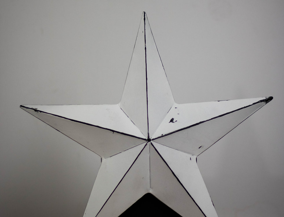 Metal white star