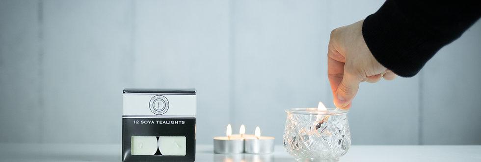 12 Fragranced Soya Tealights