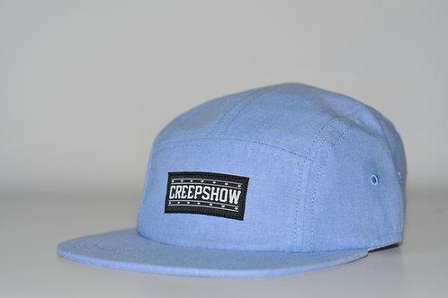 Wholesale Creep Show Blue Chambrray 5 Panel Cap