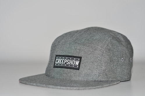 Creep Show Black Chambrray 5 Panel Camp Cap