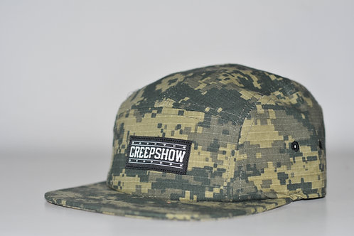 Wholesale Creep Show Digital Camo 5 Panel Camp Cap