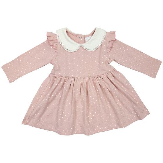 Baby Polka Collared Dress