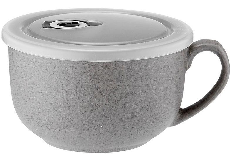 Reactive Grey Microwave Mug