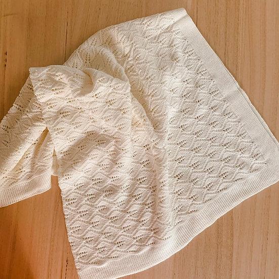Valerie Knitted Blanket Cream