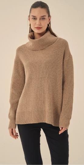 Deep Cowl Neck Pullover