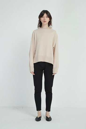 Relaxed High Neck Knit
