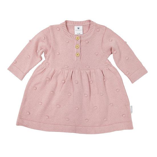 Pink Spot Knit Dress