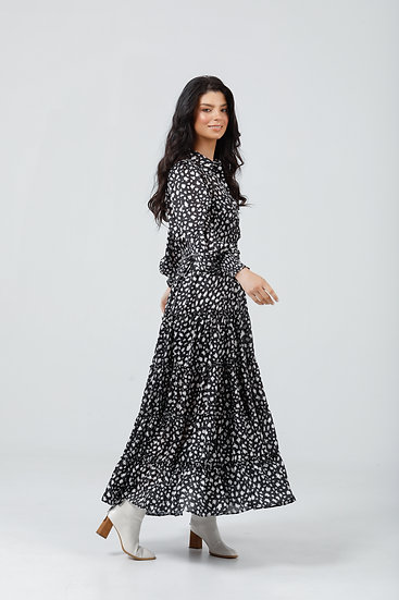 Lido Dress - Black Cloudburst