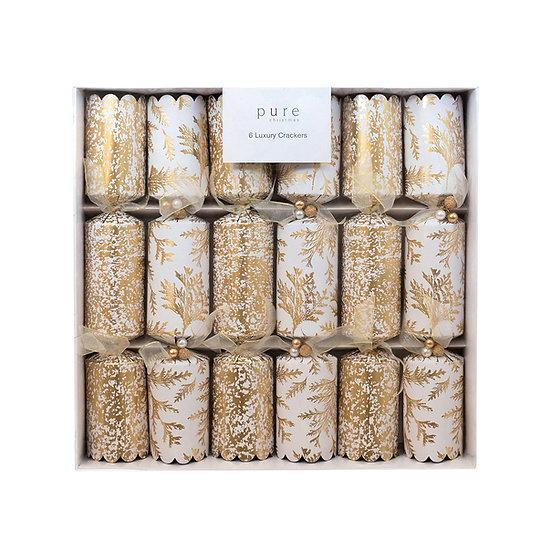 Set/6 Gold Luxury Christmas Cracker