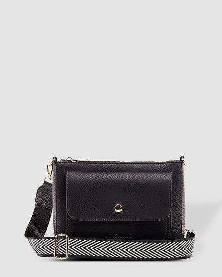 Victoria Black Crossbody Bag
