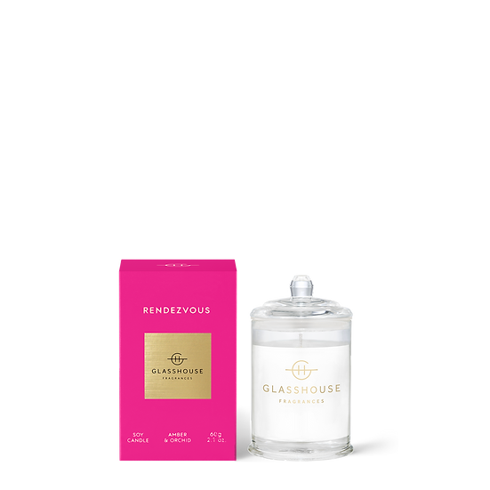 Glasshouse Candle 60g, Rendezvous - Amber & Orchid