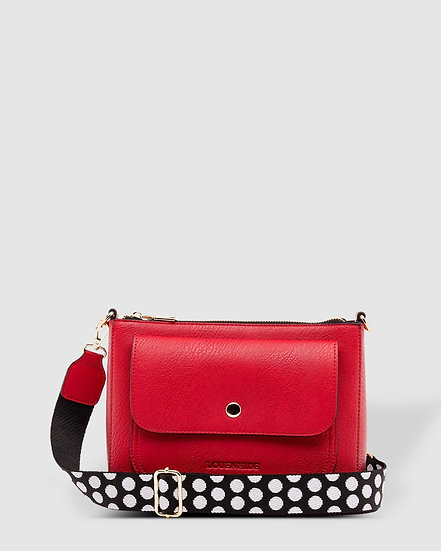Victoria Raspberry Crossbody Bag
