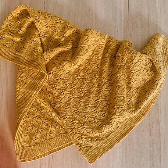 Valerie Knitted Blanket Mustard