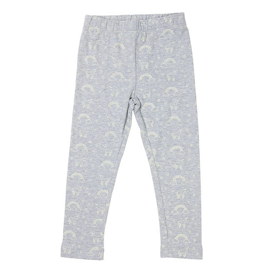Grey unicorn leggings