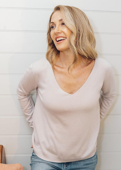 Couscous Relaxed V Neck Jumper