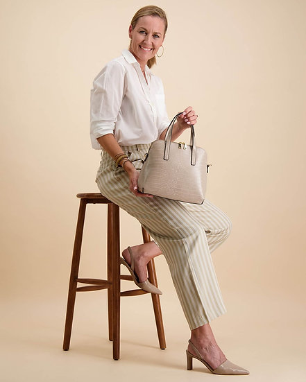 Candice Top Handle Bag Putty
