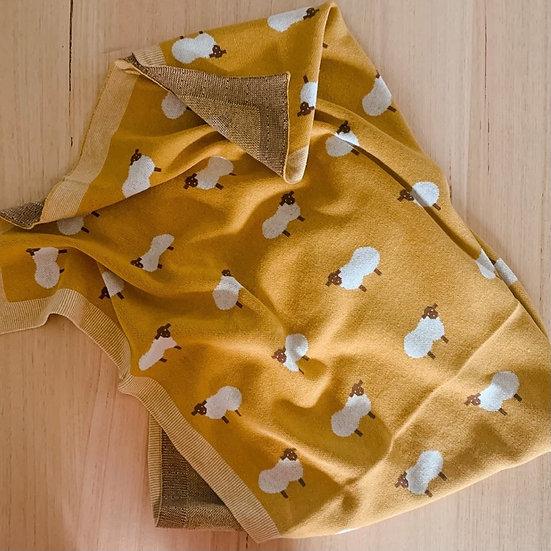 Baa Baa Blanket Mustard