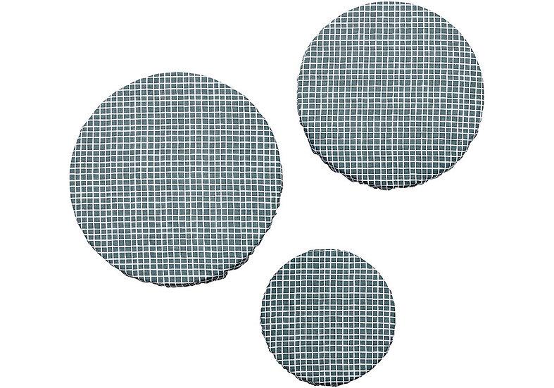 Green Check 3pk Stretch Bowl Cover