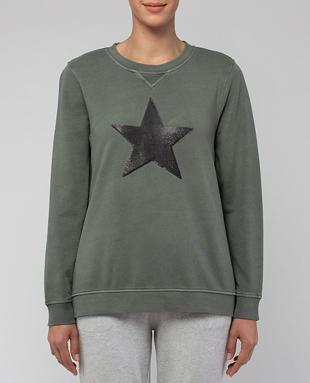 Khaki Star Sweat Top