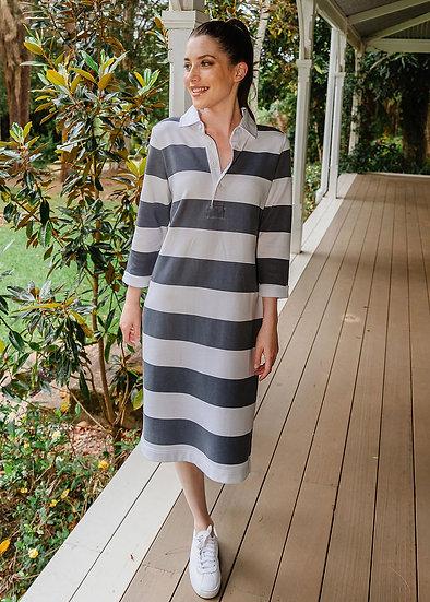Slate/White Stripe Dress
