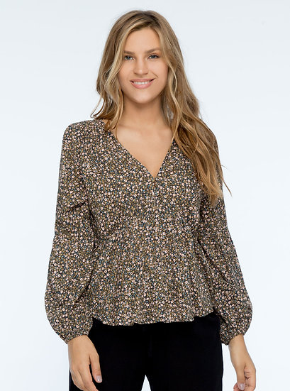 Corrie Blouse Midnight Floral