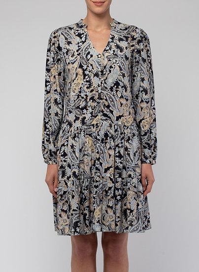 Vintage Paisley Tiered Dress