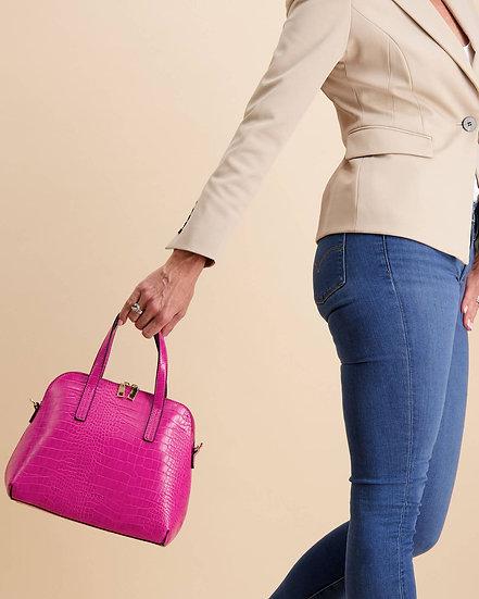 Candice Top Handle Bag Fuchsia