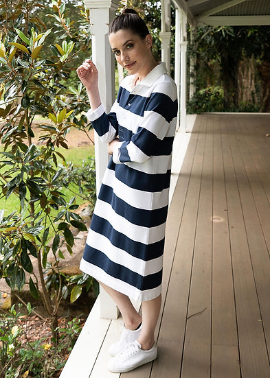 Navy/White Stripe Dress