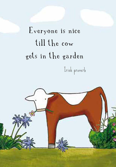 Cow in the Garden, Gift Card