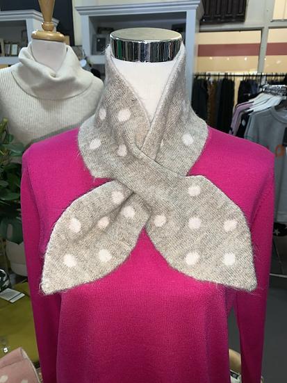 Cross-over neck scarf