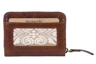 Cognac Card Wallet