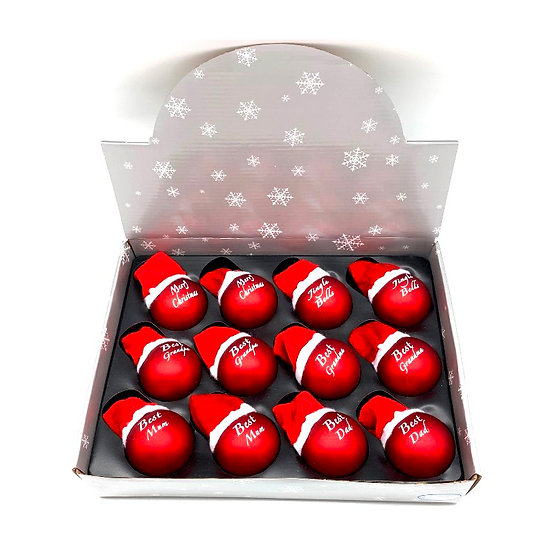 Assorted Glass Balls w/hats