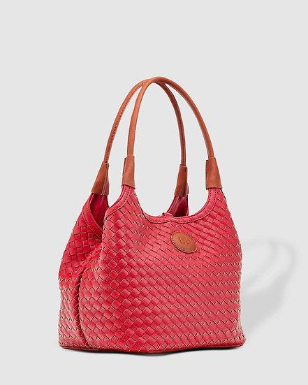 Poppet Plait Top Handle Bag Raspberry